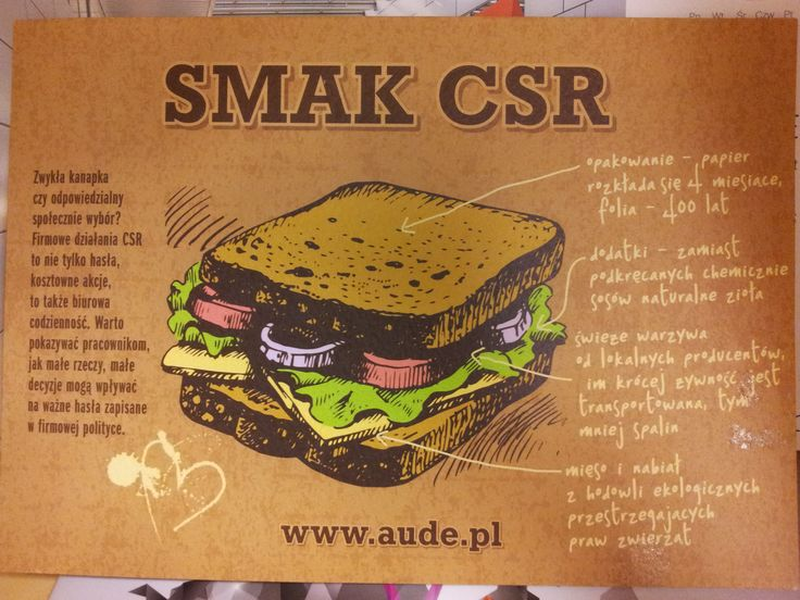 """Our mini-folder about CSR raports. This """"sandwitch"""" piqued conference guests interest!"""
