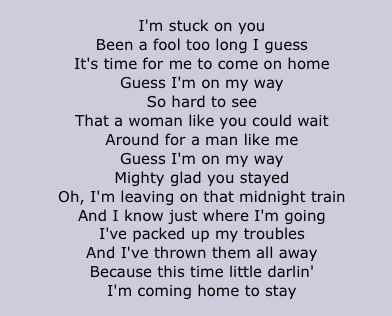 Lionel Richie Stuck On You lyrics - my fave of his songs