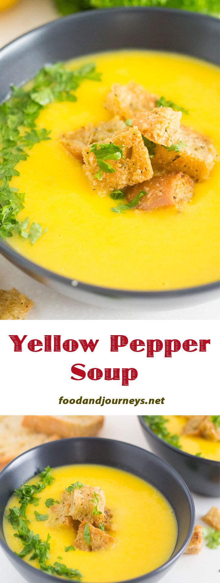 Popularized in Florence, it's mainly yellow peppers mixed with potatoes to add creaminess. Give this deliciously healthy and light soup a try!