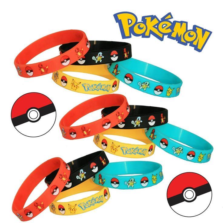 Amazon.com: Pokemon Party Supplies Silicone Wristband Bracelet Favors 12 Count: Toys & Games