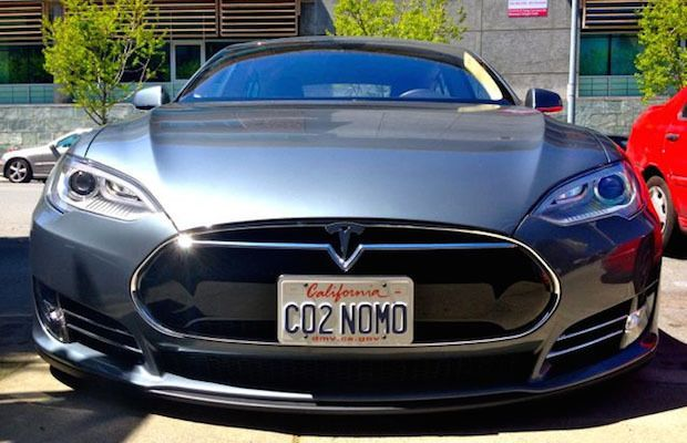 Tesla making a statement on its license plates!  Check out the best license plates you will ever see! #Tesla #cool #spon