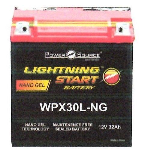 LIGHTNING START BATTERY NANO GEL 600 CCA   WPX 30L-NG HARLEY DAVIDSON #LIGHTNINGSTART