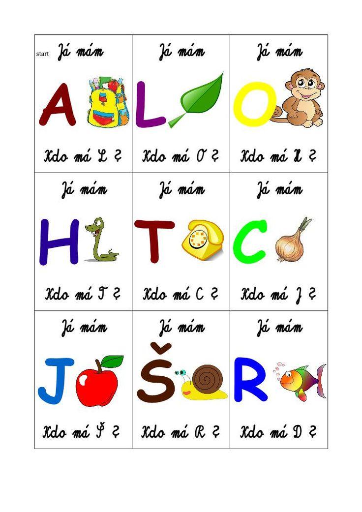 Na Pinterestu jsem našla pěknou kartičkovou hru s písmeny. Originální anglická verze je tady. Lze ji stáhnout zdarma.      Vyrobila jsem p...