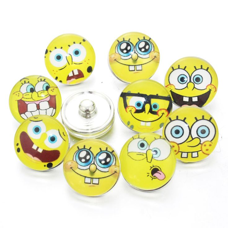 12 PCS Mixed Cartoon characters Snaps Jewelry 18mm Snaps Buttons Cartoon Glass Round Fit Snaps Bracelets Snaps Jewelry 7321 #Affiliate
