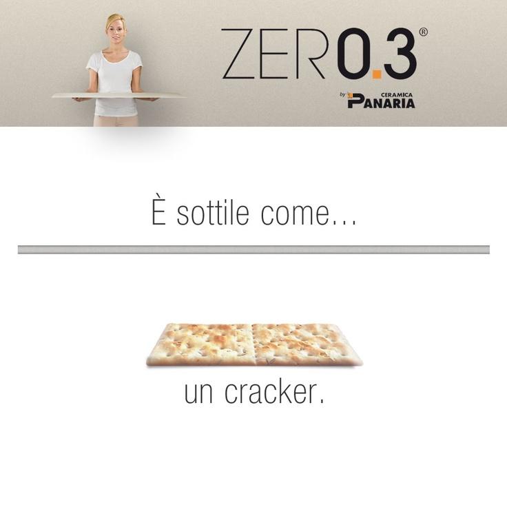 ZERO.3 è sottile come un cracker ma molto più resistente... resiste infatti ad uno sforzo di rottura di 1.235 Newton! Scoprite le nostre collezioni sottili... http://www.panaria.it/italian/interni/zer0.3-gres-laminato/4/ ZERO.3 è sottile come un cracker ma molto più resistente... resiste infatti ad uno sforzo di rottura di 1.235 Newton! Scoprite le nostre collezioni sottili...