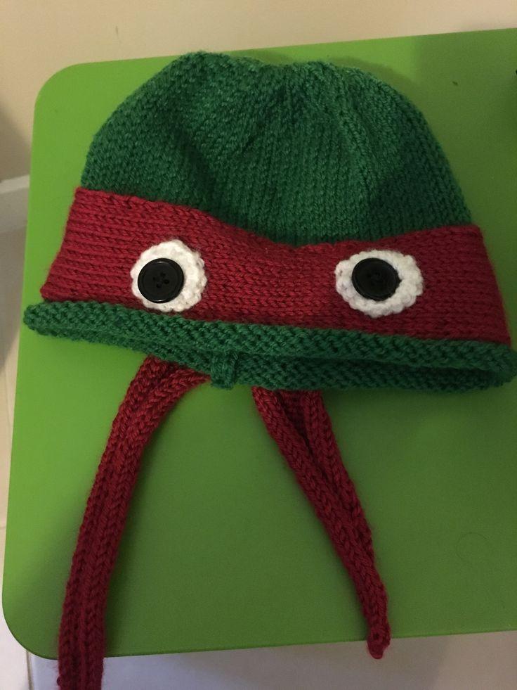 Ninja Turtles! Hand knitted beanie