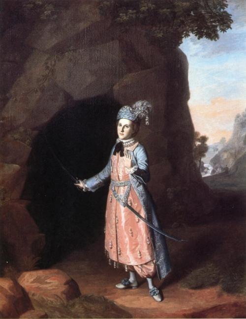 Nancy Hallam as Fidele in Shakespeare's Cymbeline ~ Charles WIlson Peale, 1771