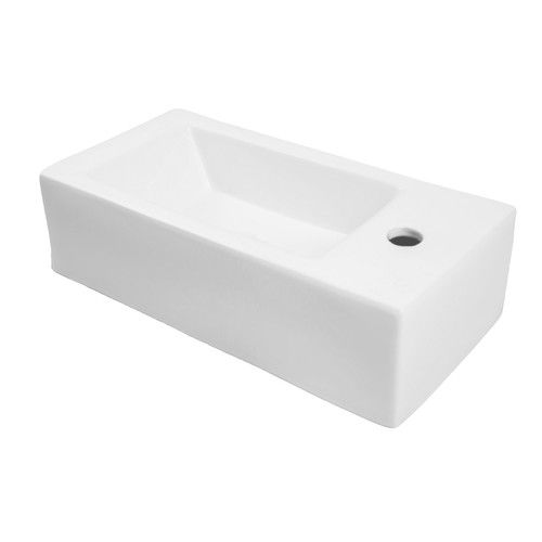"Found it at AllModern - Classically Redefined 20"" Wall Mounted or Above Counter Rectangular Lavatory Sink with Overflow"