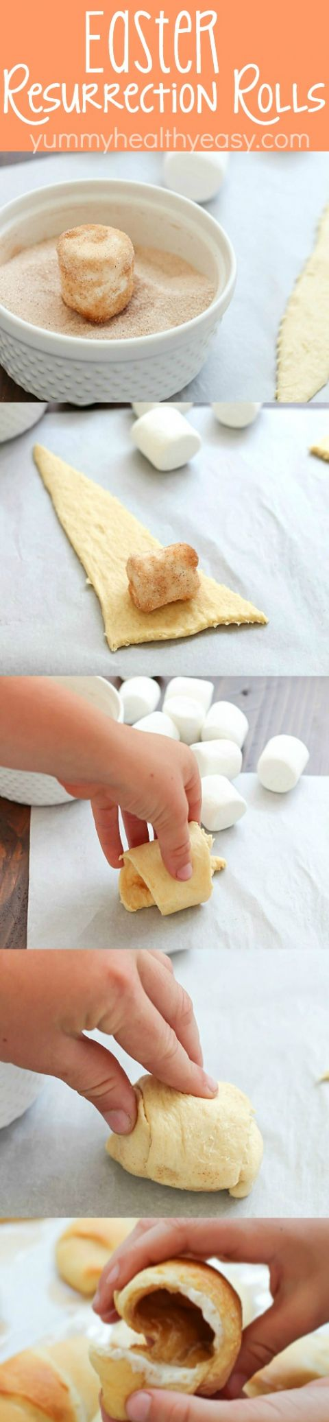 Eater Resurrection Rolls - aka Disappearing Marshmallow Rolls! A fun Easter treat that teaches children (and adults!) the real reason behind the holiday of Easter. These resurrection rolls are so easy to make and absolutely delicious!