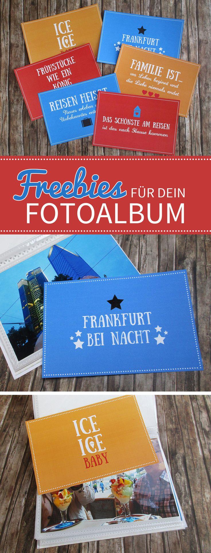 Ein Fotoalbum selber basteln mit Freebies zum Herunterladen! #printable #freebie #scrapbooking