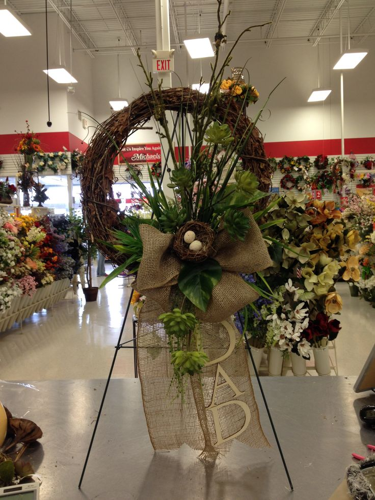 Fathers Day remembrance wreath | my florals @Michaels ...