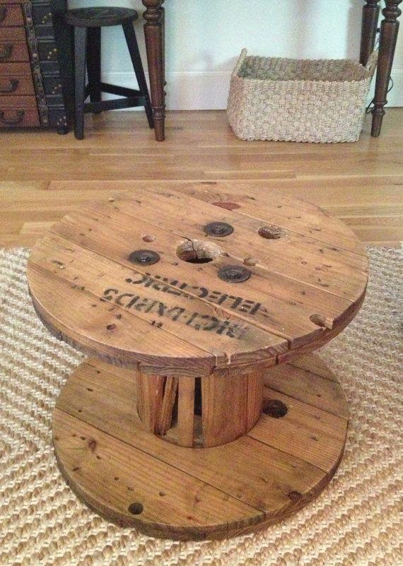 table basse de c ble bobine r serv s pour holly d co pinterest bobine table basse et bas. Black Bedroom Furniture Sets. Home Design Ideas