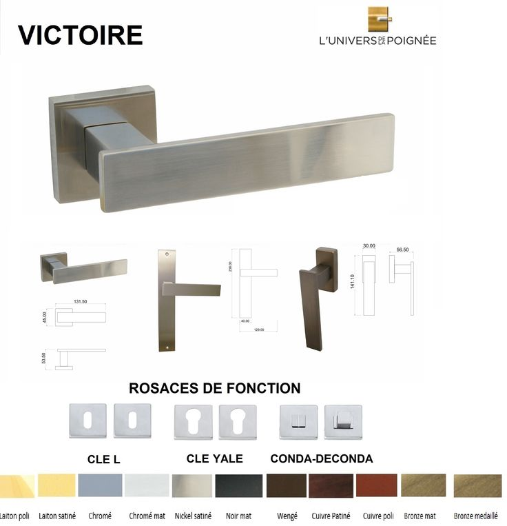 21 best Portes images on Pinterest Door handles, Hardware and Salons - fixation porte de placard