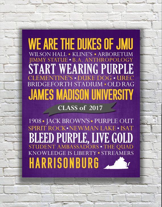 James Madison University Dukes Typography by GildMyWorldDesigns