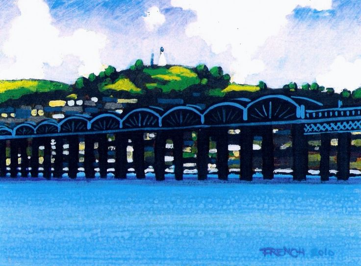 Stephen French Tay Bridge & Dundee Law Signed Limited Edition Print | Scottish Contemporary Art