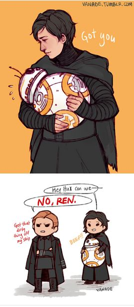 Kylux<<<< but Hux this is the droid we are looking for