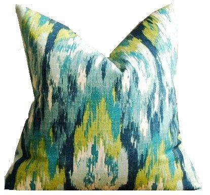 Geometric Pillow Cover Ikat Craze Birch Frost Pillow by TrendyNest