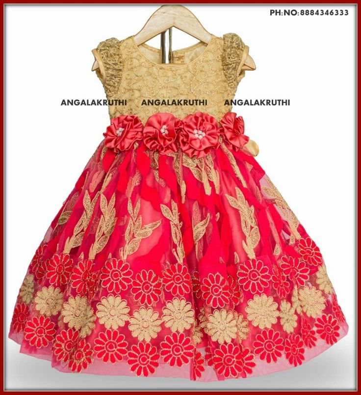 #Frock for baby girl by Angalakruthi boutique Bangalore #Custom designer boutique in Horamavu Bangalore India with online order placement service and international shipment service