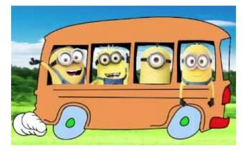 This is a pdf of six cards featuring minions riding a school bus. I will be  printing these out and writing my students' bus numbers on them to help them get onto the correct bus at dismissal.