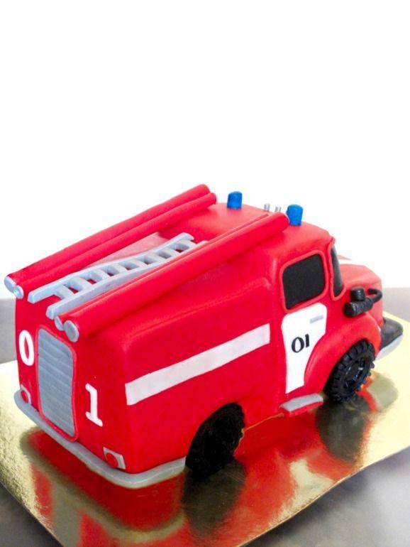 Картинки торт пожарная машина кремом вам повезет