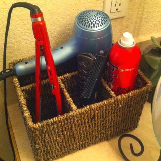 Camila Organiza: Opções para guardar seu secador de cabelo                                                                                                                                                                                 Mais