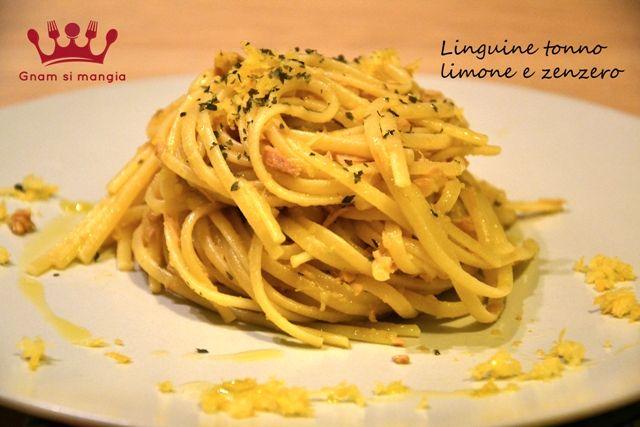 Linguine tonno limone e zenzero | Gnam si mangia. Una ricetta facile e veloce per una pasta profumata e leggera. Ottima anche servita fredda!