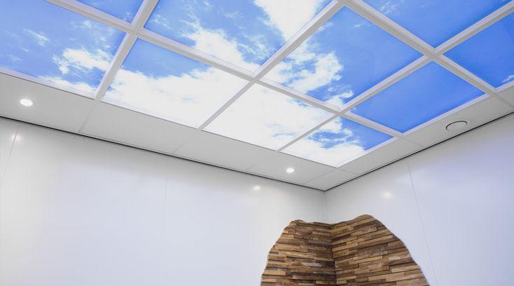 SG Spieringshoek - Schiedam   Lumick Standard   www.lumick.com    Interior Design - Healing Environment - Office Design - Healing Office  #skyceiling #skypanel #cloudceiling #wolkenplafond #fotoplafond