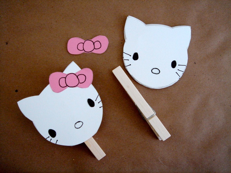 Hello Kitty inspired party craft..