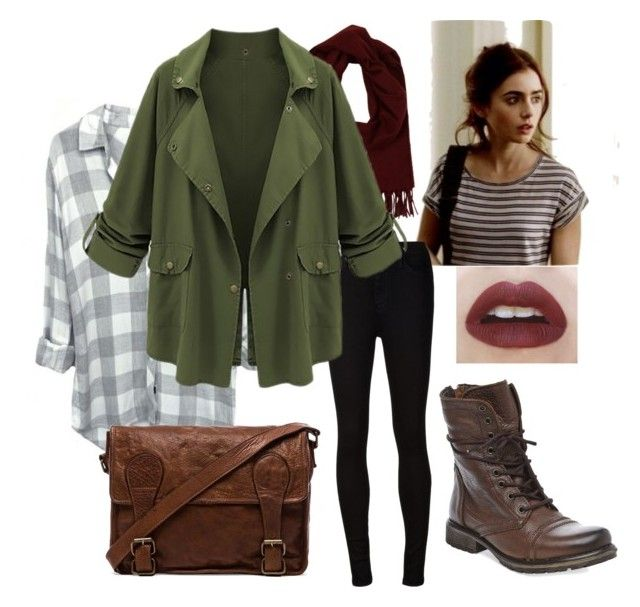 Back to school: Clary Fray inspired by bella-haverland on Polyvore featuring AG Adriano Goldschmied, Steve Madden, VIPARO, Loro Piana, women's clothing, women's fashion, women, female, woman and misses