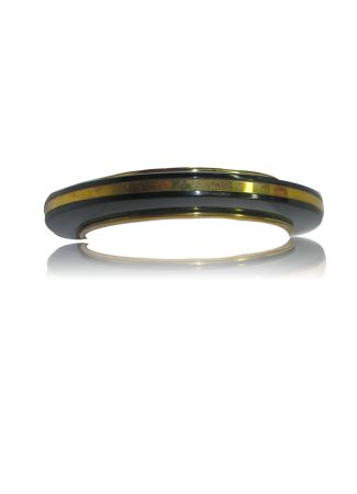 Resin Bangle with Brass Strip