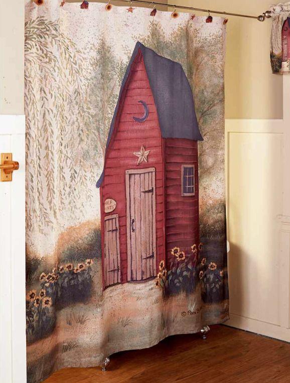 Rustic Country Primitive Outhouse Bathroom Decor Collection Farmhouse Bath
