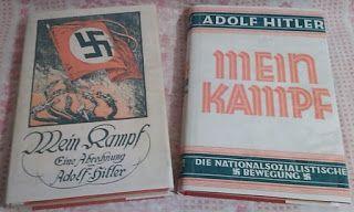 MEIN KAMPF 1925 & 1927 BY ADOLF HITLER FIRST EDITIONS THIRD REICH PRICE $5999