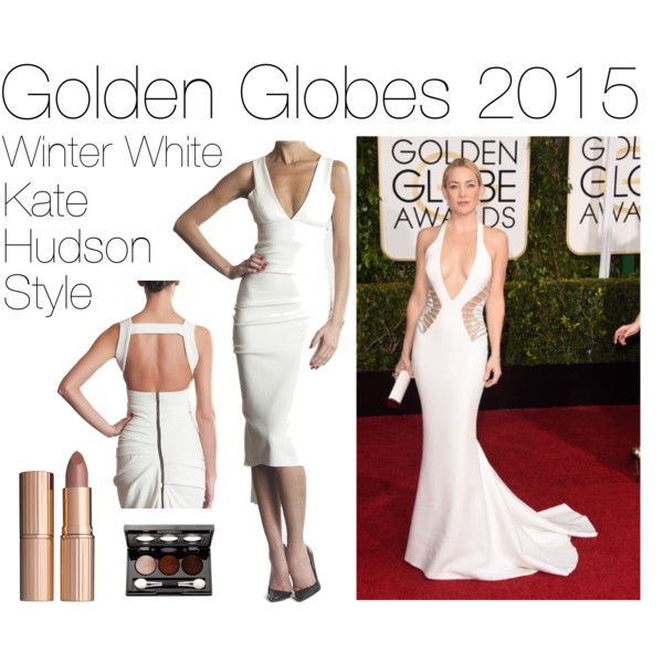 """Golden Globes 2015: Kate Hudson"" by accentclothing on Polyvore"
