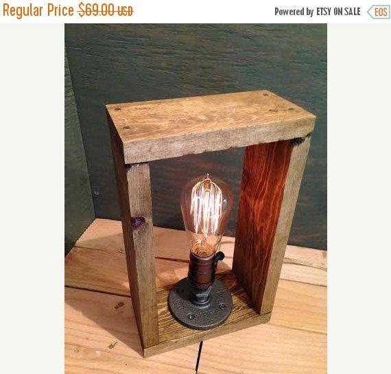 25 de rabais vente bo te en ch ne industriel eclairage lampe steampunk - Lampe de chevet industriel ...