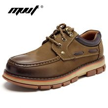 US $59.98 MVVT Genuine Leather Boots Men Winter Safety Work Boots Super Quality Autumn Boots Wear-Resisting Rubber Ankle Boot Men Shoes. Aliexpress product