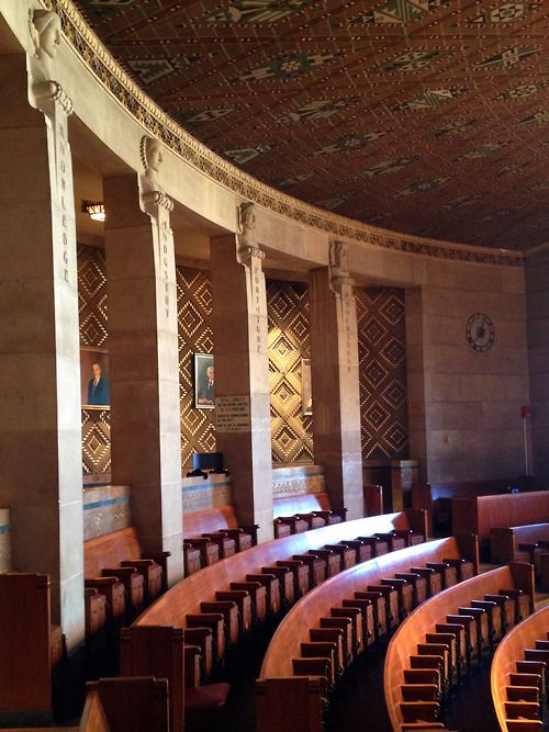 Buffalo City Hall New York Photo By Wendy Darling Upper Rows Of The Seating In Common Council Chambers