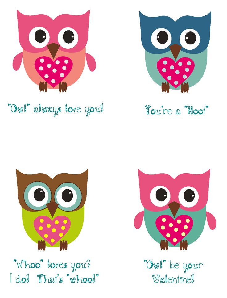 130 best images about Girls owl bedroom ideas – Owl Valentines Day Cards