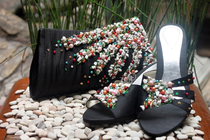 exclusive design for Mrs. Astri, solar #clutchbag and anthea #sandals