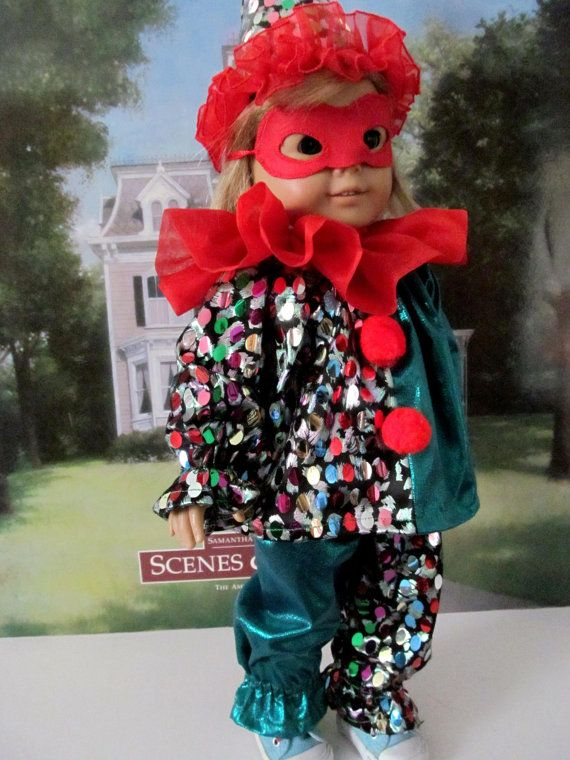 Clown Costume Halloween Costume Dress up Costume by fashioned4you