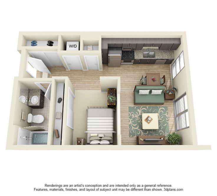 Efficiency Apartment Floor Plan Studio Apartment Floorplans Find House Plans