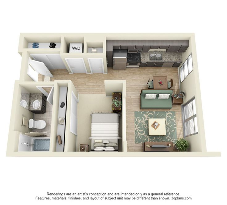 Small Apartment Kitchen Living Room Floor Plan Google Search Cottage Plan