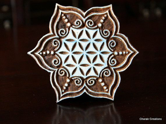 Hand Carved Indian Wood Textile Stamp Block by charancreations, $34.00
