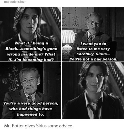 the marauders  - Mr. Potter gives Sirius some advice.