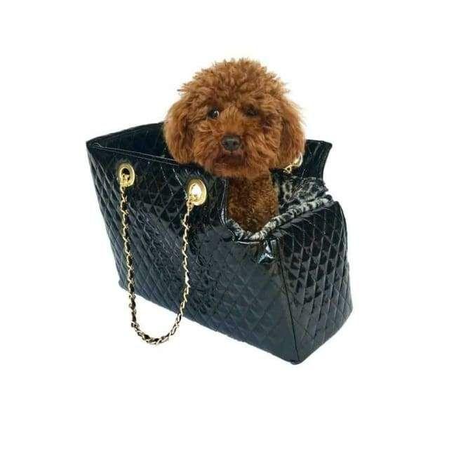 Kate Black Patent Purse Dog Carrier Dog Carrier Designer Dog Carrier Purse Dog Carrier Purse