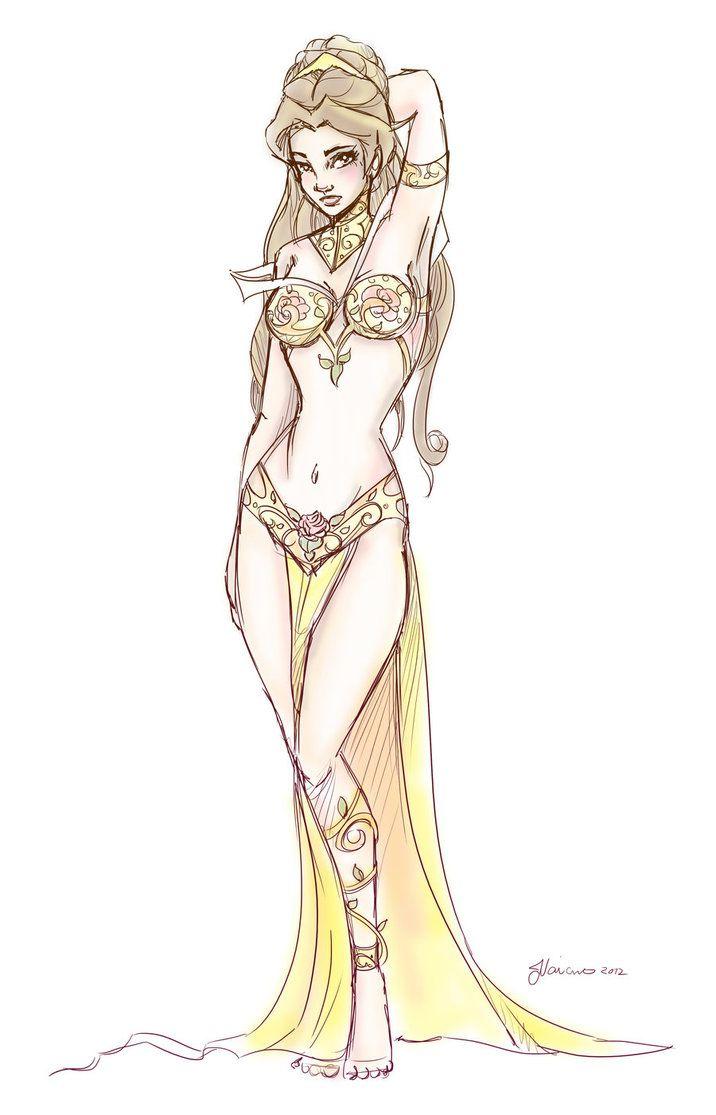 Slave Leia Belle Design Sketch by ~NoFlutter on deviantART hehehe.....sketchy!