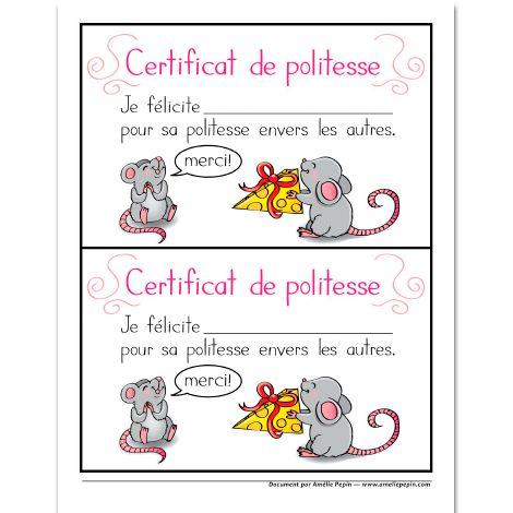 Certificat de politesse
