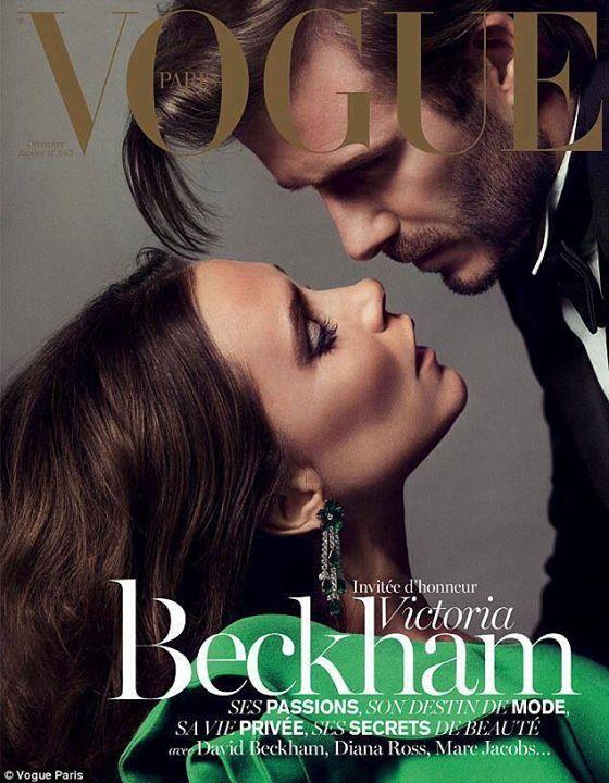 Mr.& Mrs. Beckham, December 2013, Vogue Paris