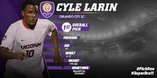"With Orlando City given a expansion team into MLS, they had a lot of work to do to make a quality team for the next level. With their first ever pick in the MLS Superdraft, they decided to pick forward Cyle Larin from University of Connecticut. (What he a pick he turned out to be). Winning ""Rookie of the year in the 2015 season."