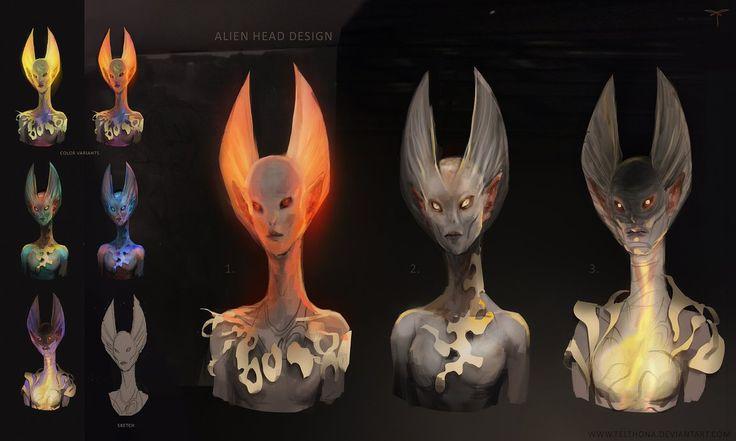 Alien Head Design by telthona.deviantart.com on @DeviantArt