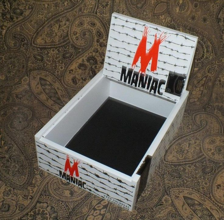 Maniac Colossal Wooden Cigar Box Crafts Hobbies Jewelry Box Storage